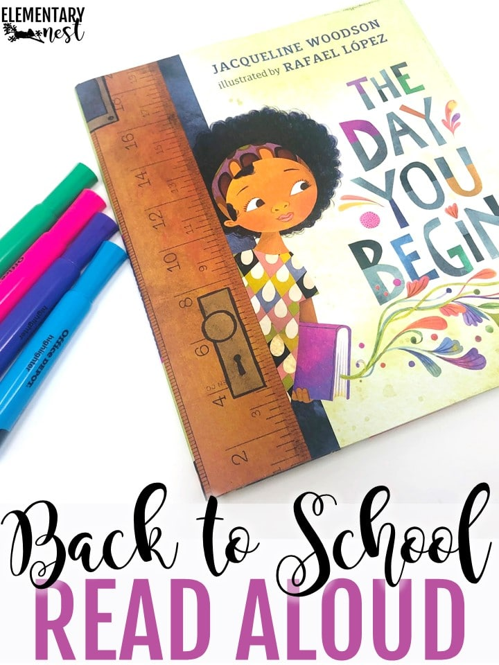 The Day You Begin back to school themed read aloud.