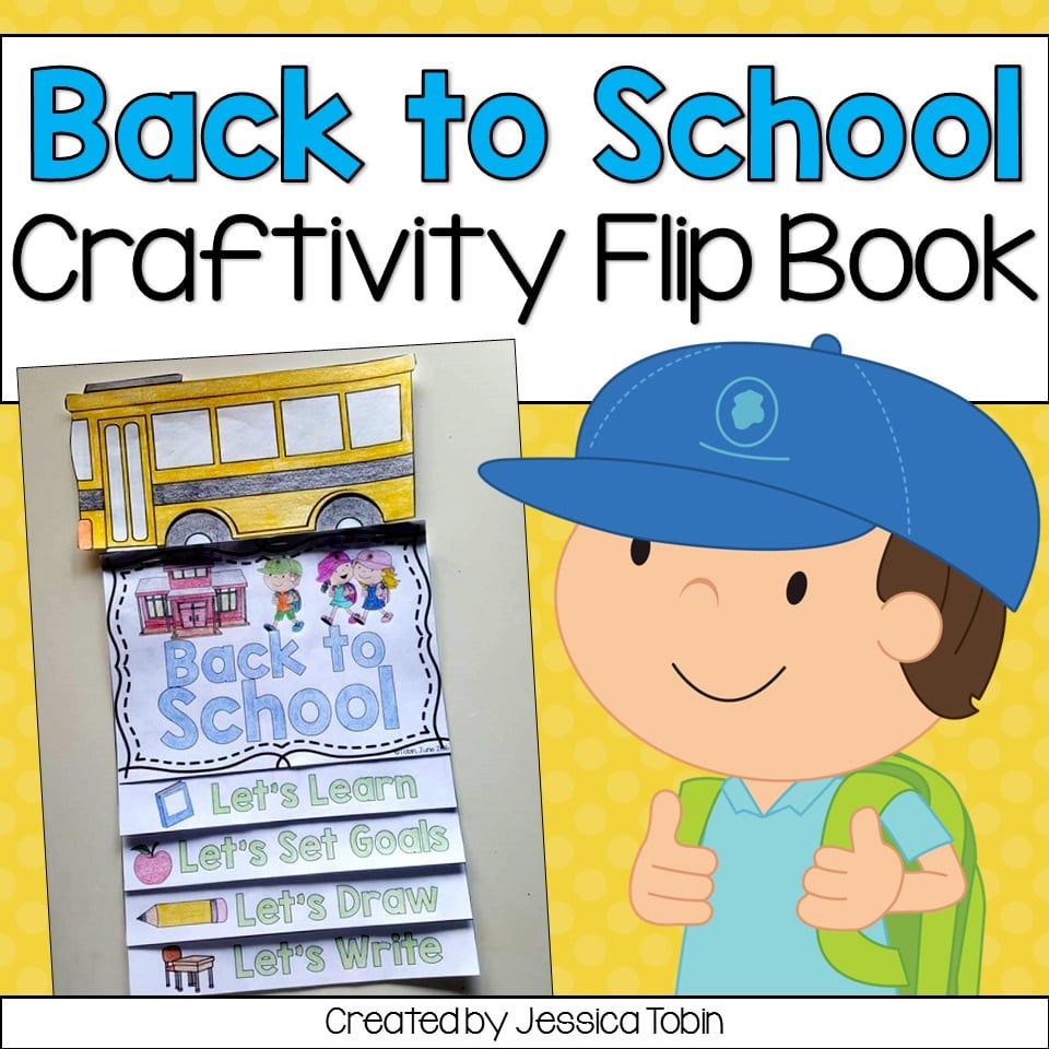 Back to school flip book for primary students.
