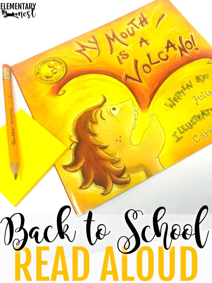 My Mouth is a Volcano back to school themed read aloud.