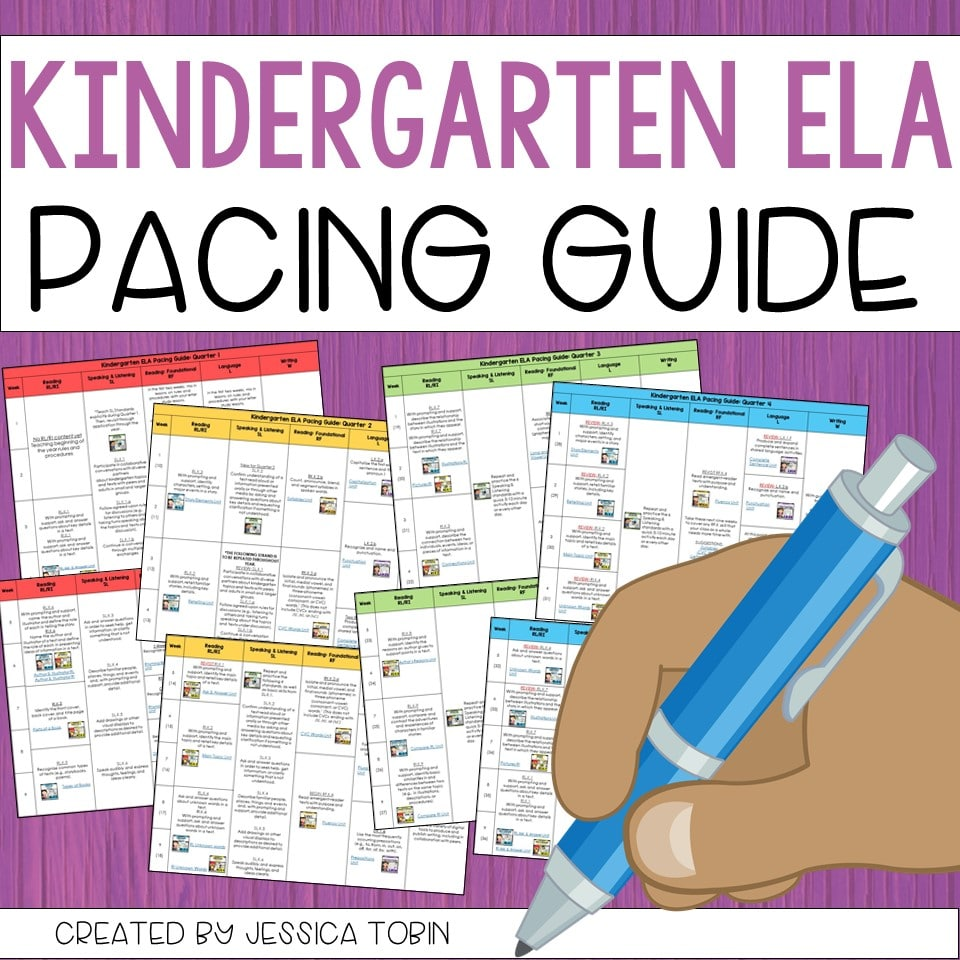 Free Kindergarten ELA Pacing Guide