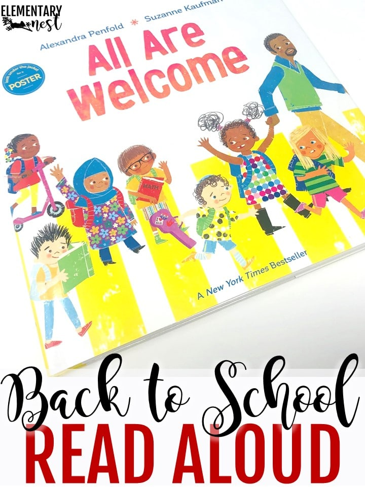 All Are Welcome Here back to school themed read aloud.