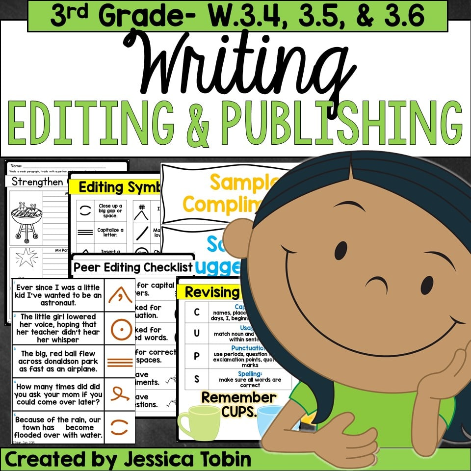 3rd grade  writing, editing, and publishing