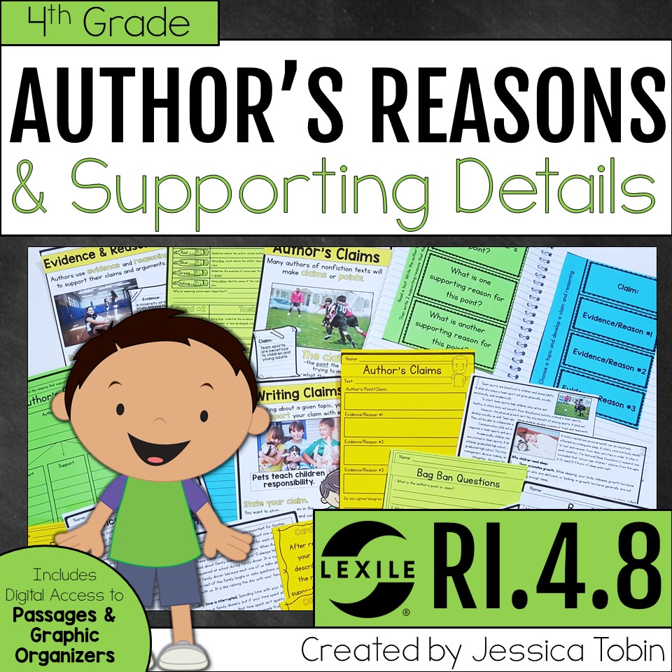 4th grade author's point and supporting reasons
