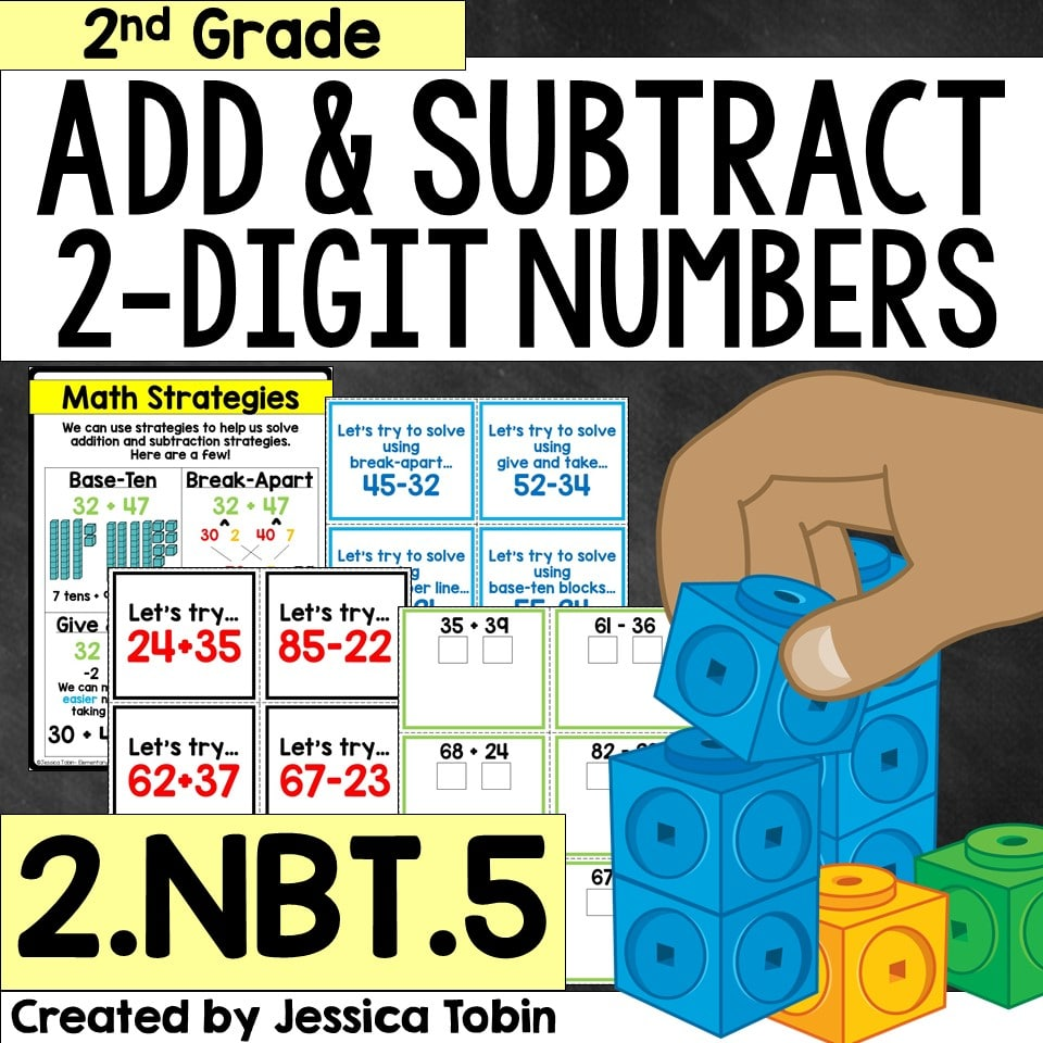 2nd grade add and subtract 2-digit numbers unit
