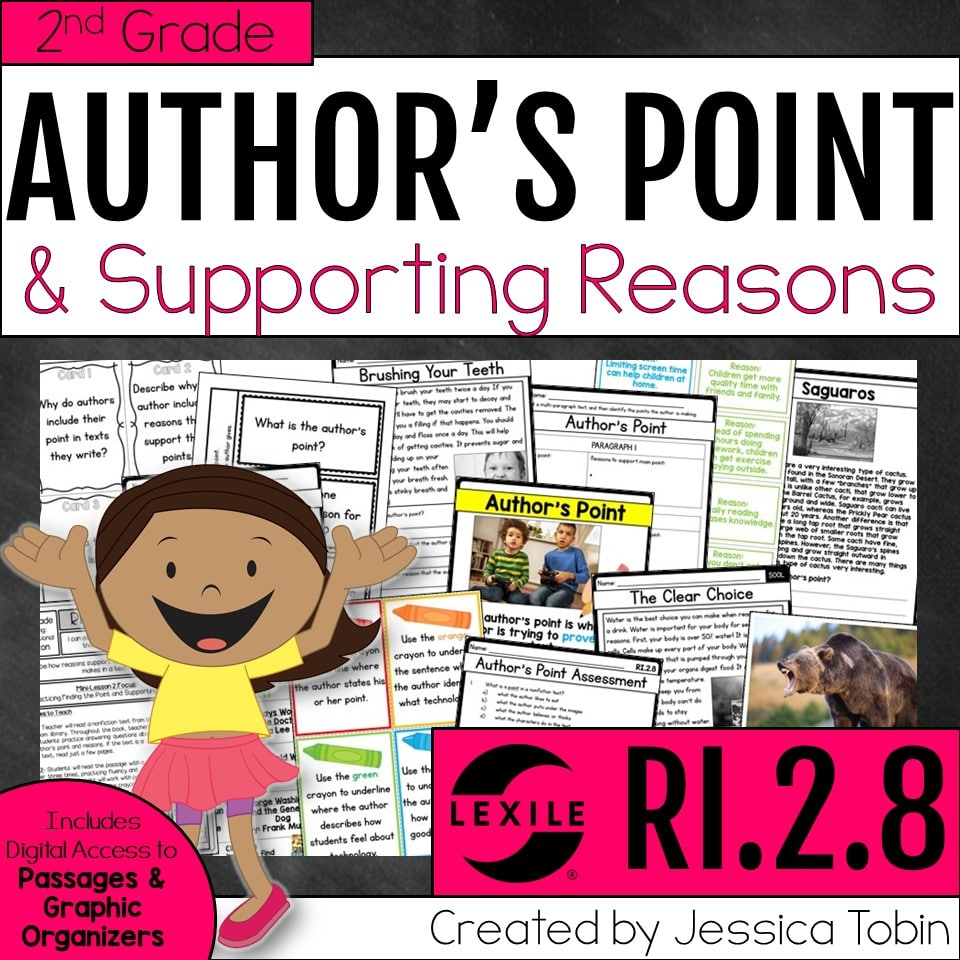 2nd grade author's point and supporting reasons