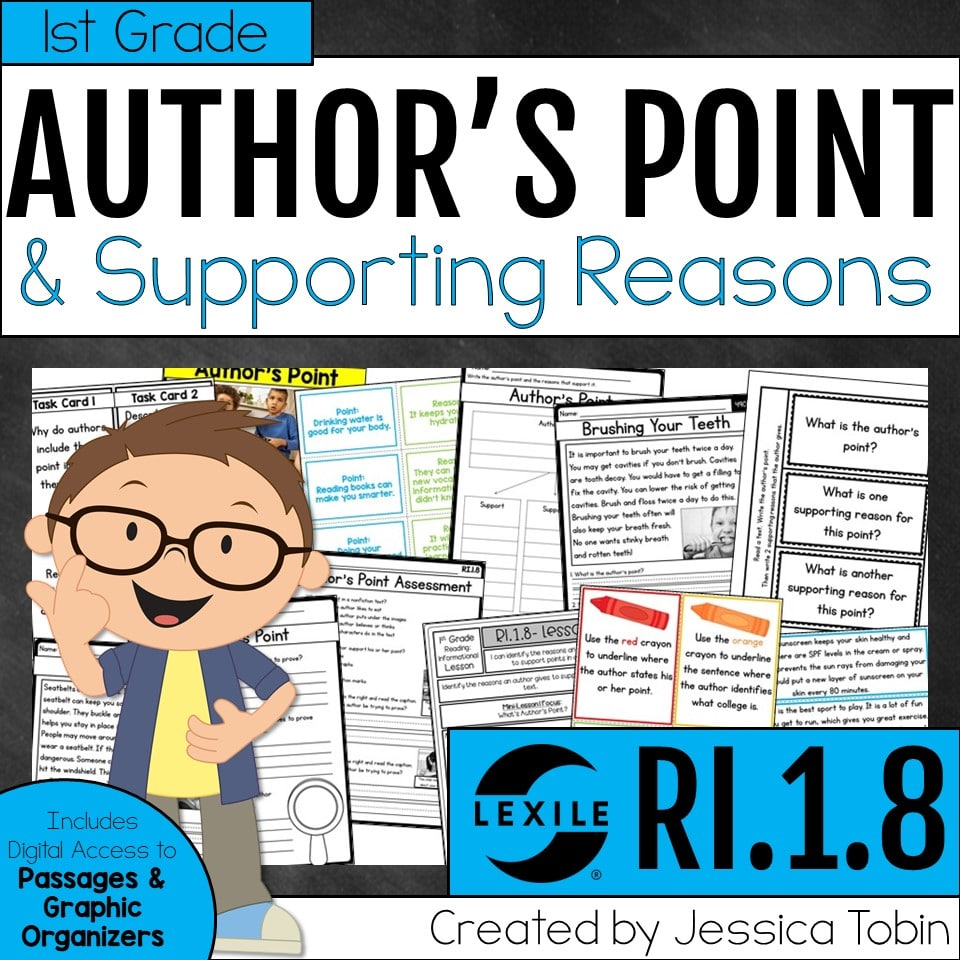 1st grade author's point and supporting reasons