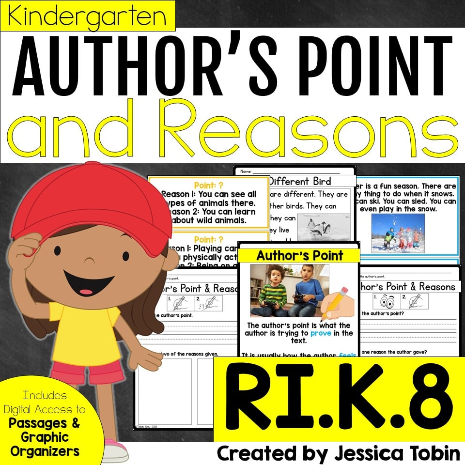 Kindergarten author's point and supporting reasons