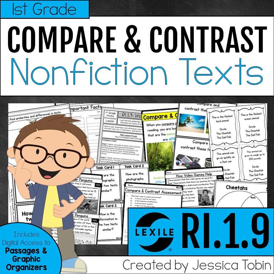 1st grade compare and contrast nonfiction texts
