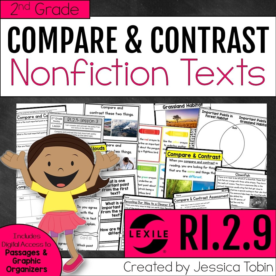 2nd grade compare and contrast nonfiction texts