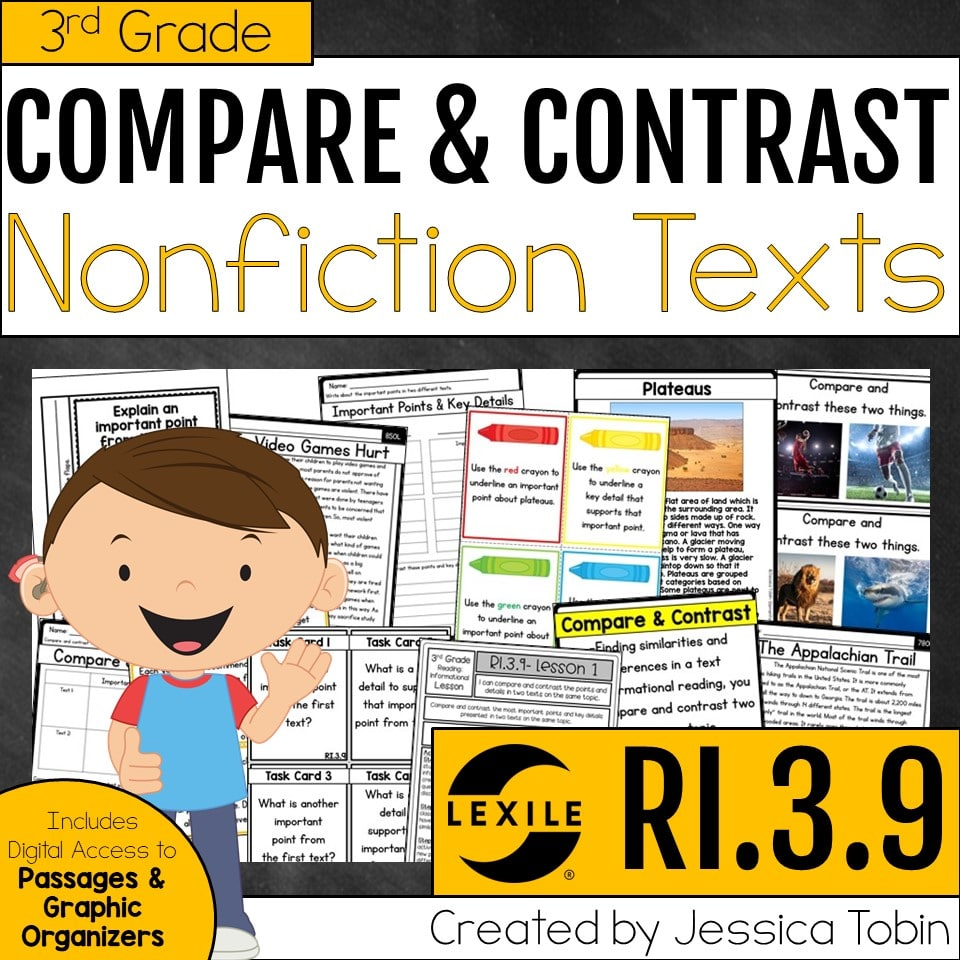 3rd grade compare and contrast nonfiction texts