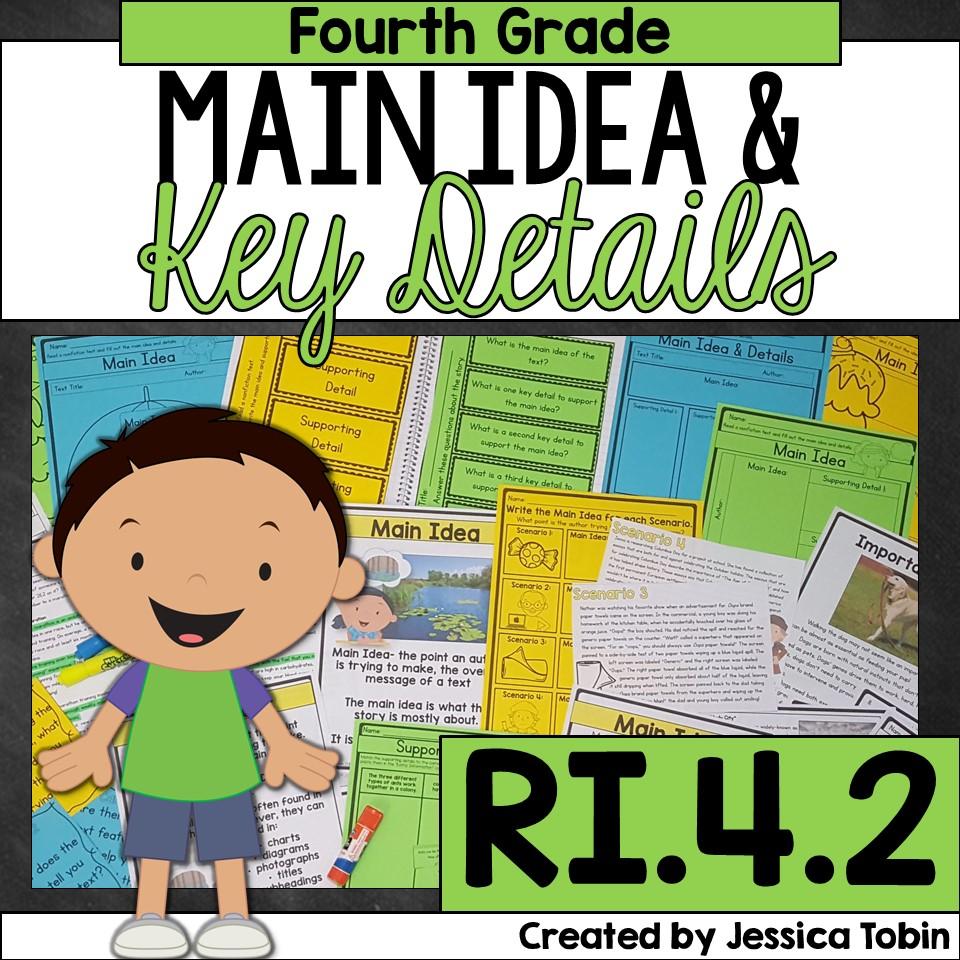 Fourth grade main idea and key details unit