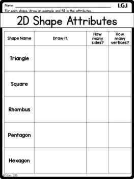 1st Grade Math Worksheets Geometry- Google Classroom ...