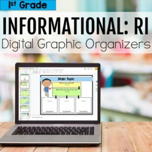 1st Grade RI Informational Digital Graphic Organizers
