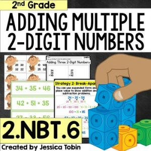 2.NBT.6 Adding Three or Four 2-Digit Numbers
