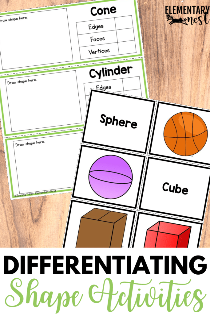 Differentiated shapes activities and games