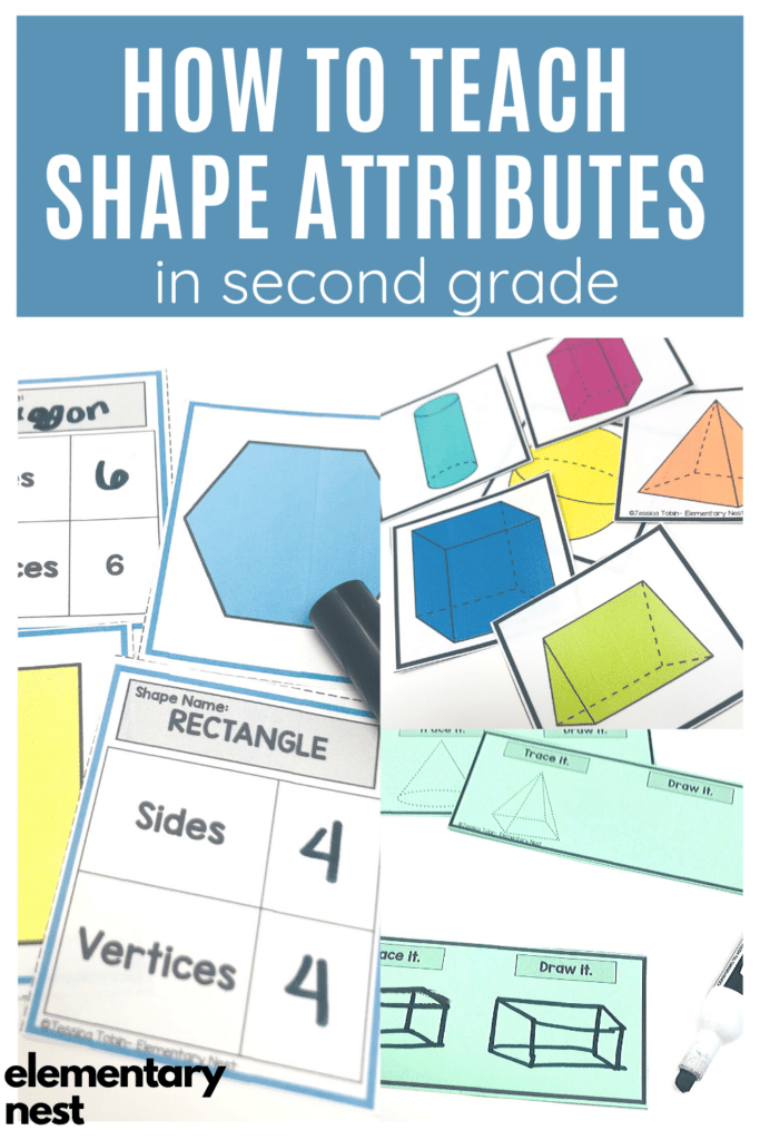 Blog post and activities about teaching shape attributes in 2nd Grade