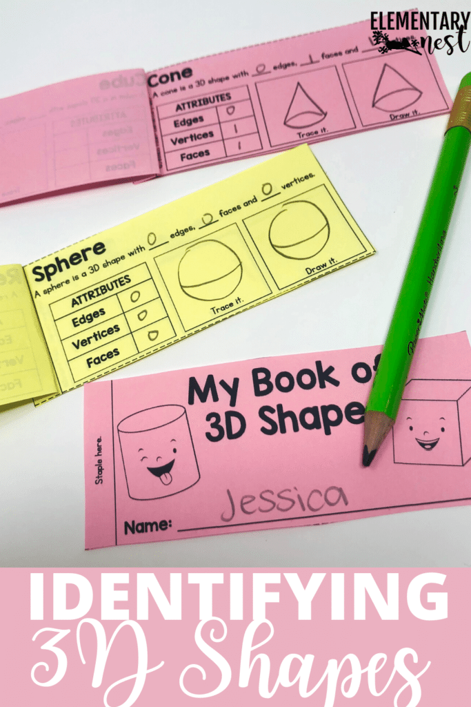 My book of 3D shapes activity