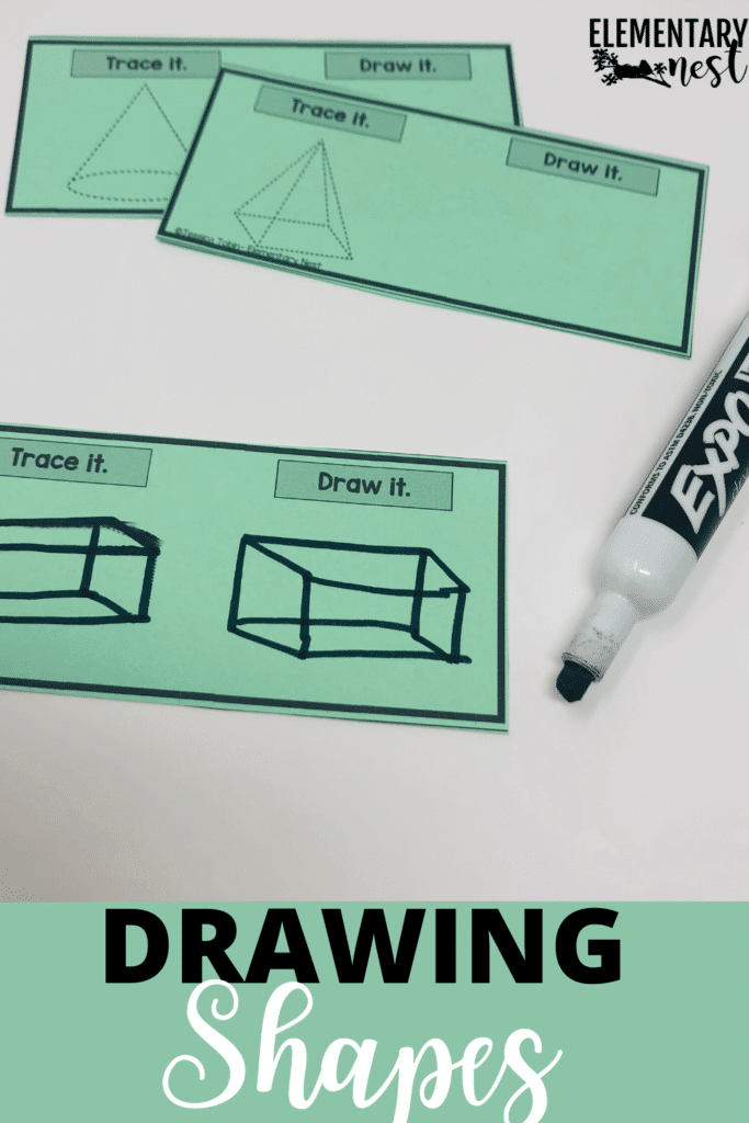 Drawing shapes dry-erase task cards
