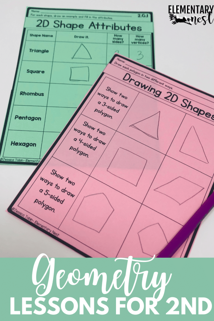 2D shape attributes and drawing 2D shapes activities