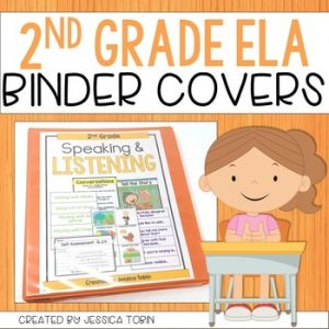 2nd Grade Binder Covers for ELA Standards