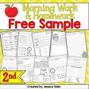 Free 2nd Grade Morning Work/Homework