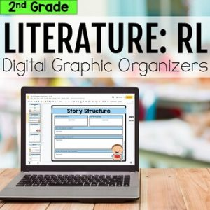2nd Grade RL Literature Digital Graphic Organizers