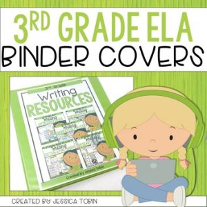 3rd Grade Binder Covers for ELA Standards