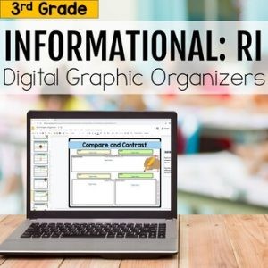 3rd Grade RI Informational Digital Graphic Organizers