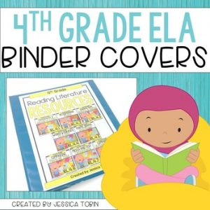 4th Grade Binder Covers for ELA