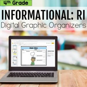 4th Grade RI Informational Digital Graphic Organizers
