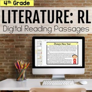 4th Grade RL Literature Digital Passages