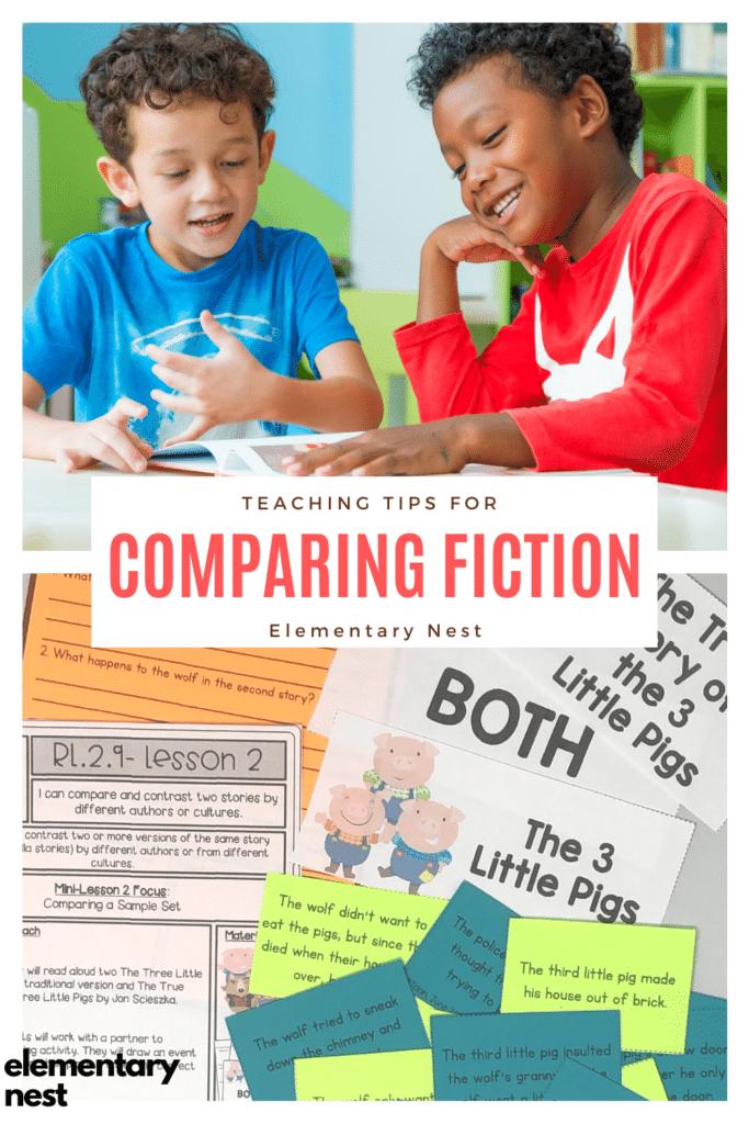 Blog post about comparing and contrasting fiction texts. -RI.K.9, RI.1.9, RI.2.9, RI.3.9, RI.4.9