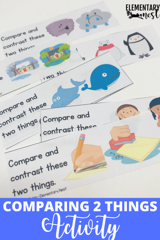 Activity for kids to compare and contrast 2 things