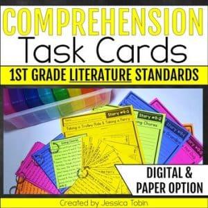 1st Grade Literature Comprehension Task Cards