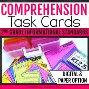 2nd Grade INFORMATIONAL Comprehension Task Cards