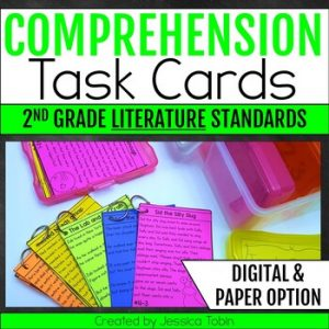 2nd Grade Comprehension Task Cards LITERATURE
