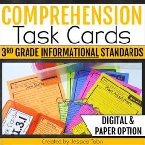 Comprehension Task Cards 3rd Grade INFORMATIONAL