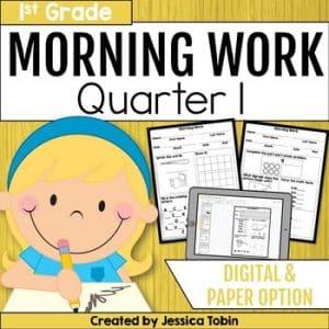 First Grade Morning Work 1st Quarter