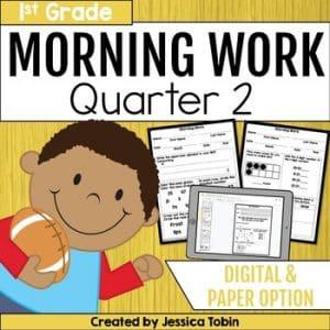 First Grade Morning Work 2nd Quarter