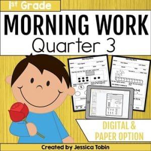 First Grade Morning Work 3rd Quarter