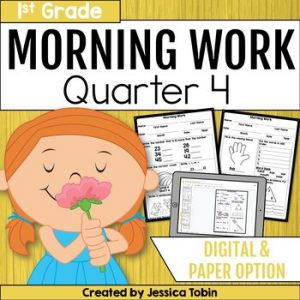First Grade Morning Work 4th Quarter