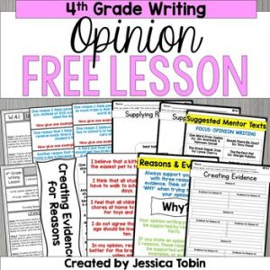 Free Writing Activity- 4th Grade Opinion Writing Activity