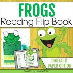 Frogs Reading Flip Book