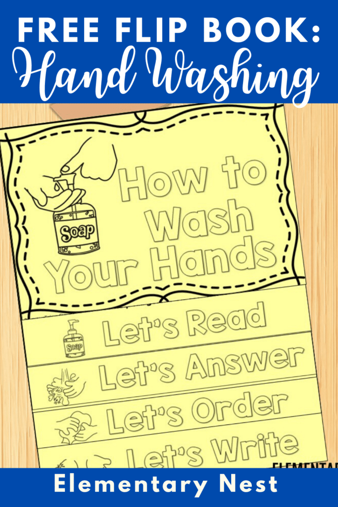 Free hand-washing flip book