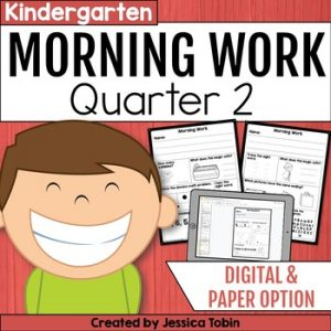 Kindergarten Morning Work 2nd Quarter