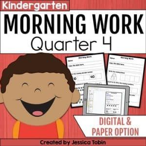 Kindergarten Morning Work 4th Quarter
