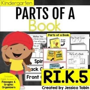 RI.K.5 Parts of a Book