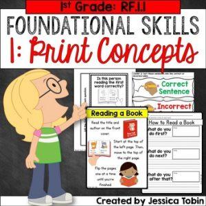 RF.1.1 Print Concepts