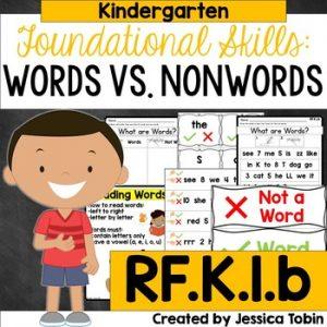 RF.K.1.b Recognizing Words in Print