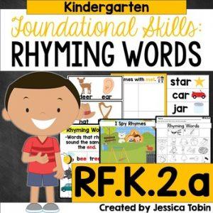 RF.K.2.a Rhyming Words